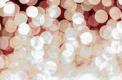 Red color tone bokeh Royalty Free Stock Photography