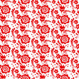 Red color traditional european Ukrainian ornament. r Stock Image