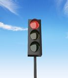 Red color on traffic light Royalty Free Stock Photography