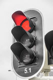 Red color on the traffic light Royalty Free Stock Photos