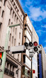 Red color on the traffic light Royalty Free Stock Image