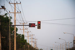 Red color on the traffic light Royalty Free Stock Images