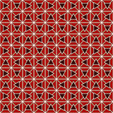 Red color triangles and blocks chain abstract background. Mosaic wallpaper. Seamless pattern with geometric ornament. Red color triangles and blocks chain Stock Photos