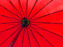 Red color umbrella Royalty Free Stock Images