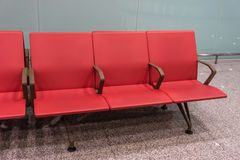 Airport Seating Row royalty free stock image