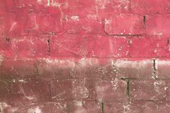 Red colored bricks texture Royalty Free Stock Image