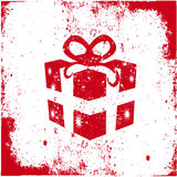 Red colored Christmas gift Stock Images