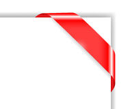 Red colored corner bow Stock Photos