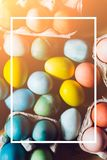 Red Colored Easter eggs set royalty free stock images