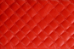 Red Colored Leather Texture Background Stock Photography