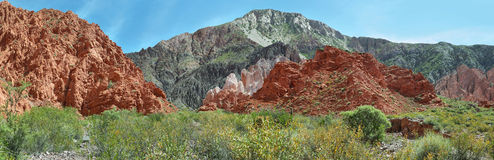 Red-Colored mountains near Uquia Stock Photography