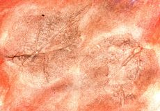 Red Colored Paper. Grunge paper background colored with red watercolor stock photos