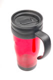 Red colored plastic jug Stock Image
