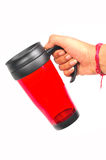 Red colored water jug Royalty Free Stock Image
