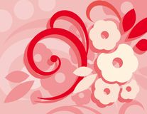 Red Colorful Abstract Flower and Line Background  Big. Colorful Abstract Flower and Line Background Big Size Modern Design vector illustration