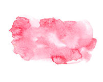 Red colorful abstract hand draw watercolour. Aquarelle art paint splatter stain on white background royalty free stock image