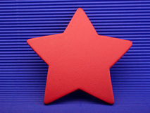 Red colorful asterisk. Stock Photography