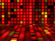 Red colorful pattern made out of Light Cubes Stock Photography