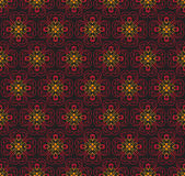 Red Colors Asian flower Damask Pattern. Korean traditional Patte Stock Photography