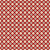 Red colors seamless pattern with repeated circles. Geometric abstract background. Modern style texture. Royalty Free Stock Images