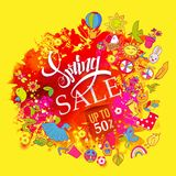 Red colors Spring sale stock illustration