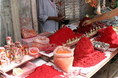 Red colour. Powder used in indian festival holi Royalty Free Stock Photos