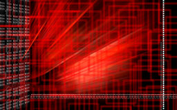 Red colour digital background Stock Images
