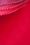 Red colour fabric sample Royalty Free Stock Photography