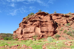 Red Colour Rock Landscape Royalty Free Stock Images