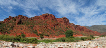 Red colour rock landscape Stock Photo