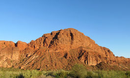 Red colour rock landscape Royalty Free Stock Image