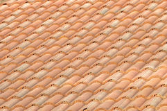 Red colour of roof tile pattern Royalty Free Stock Image