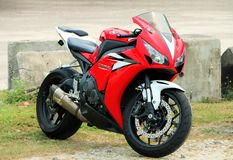 Red colour superbike Royalty Free Stock Images
