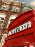 Telephone Booth. A red coloured telephone booth Royalty Free Stock Photo