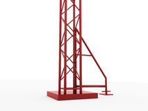 Red column construction rendered Stock Images