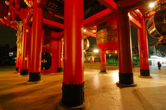 Red columns, Asakusa Royalty Free Stock Images