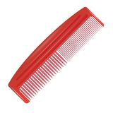 Red comb. Colorful illustration with red comb on a white background for your design vector illustration
