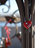 Red combination lock heart Royalty Free Stock Image