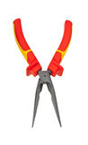 Red Combination Pliers Royalty Free Stock Photo