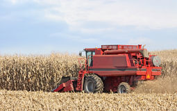 Red Combine Royalty Free Stock Photo