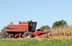 Red Combine Royalty Free Stock Image