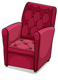 Red comfortable furniture Stock Images