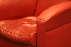 Red comfortable leather chair Royalty Free Stock Images