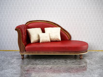 Red comfortable sofa Royalty Free Stock Image