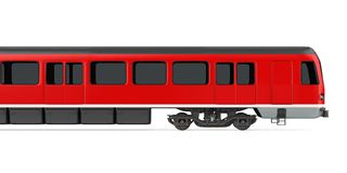 Red Commuter Train Isolated. On white background. 3D render vector illustration