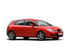 Red Compact Car Stock Image