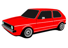 red compact car Royalty Free Stock Images