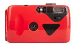 Red compact film camera Stock Image