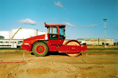Red Compactor Royalty Free Stock Photos