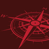 Red compass background Stock Photo